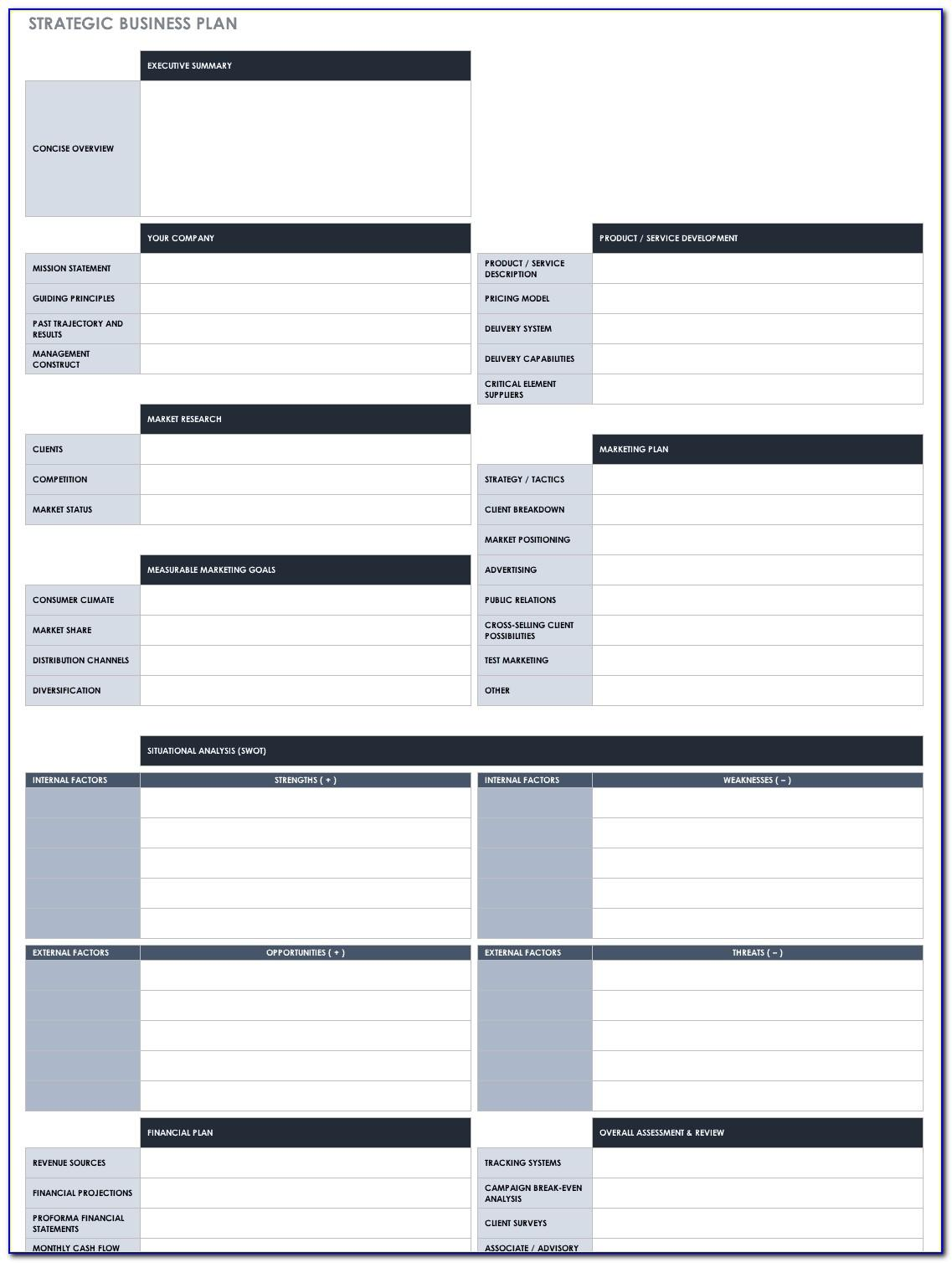Company Strategic Plan Template