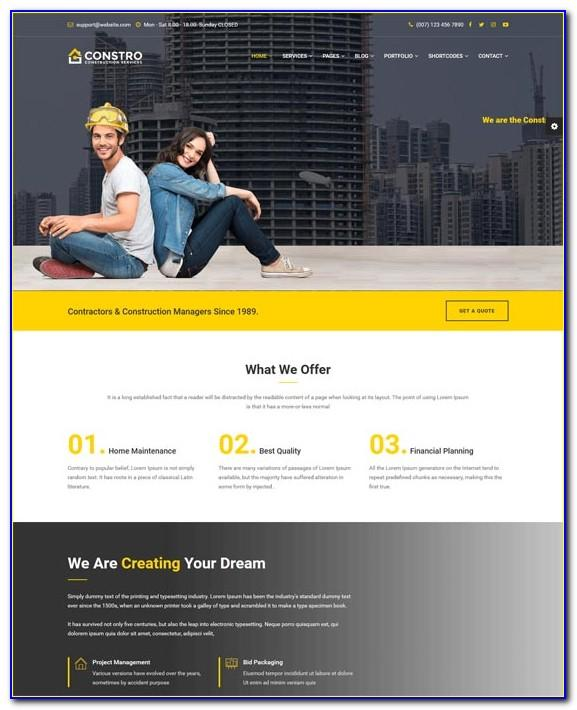 Construction Website Templates Html5 Free Download