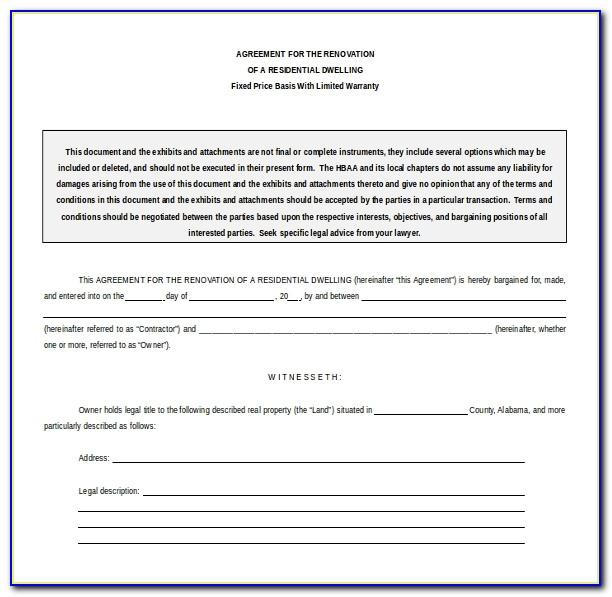 Contract Agreement Format Word
