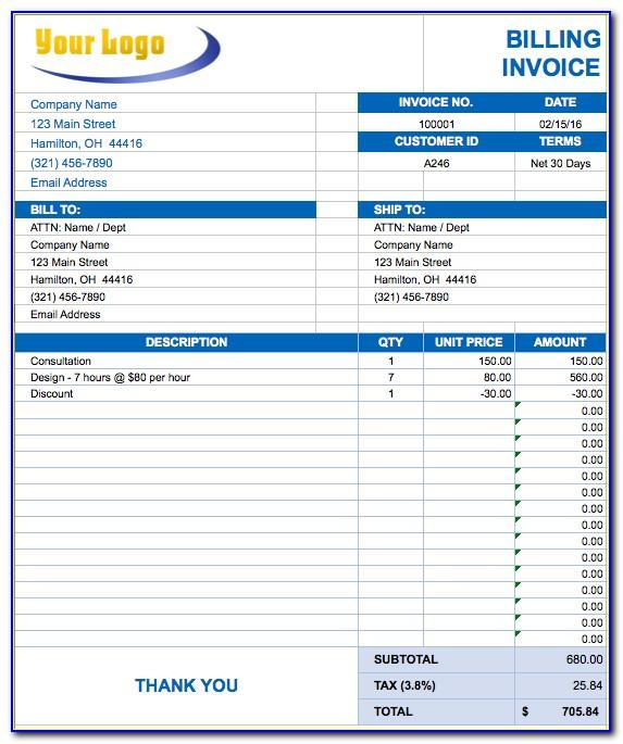 Contract Billing Template