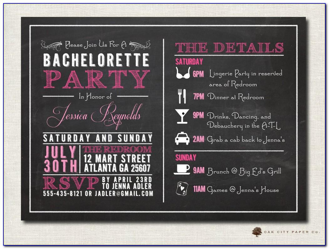 Cowgirl Bachelorette Party Invitation Template