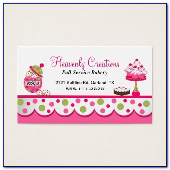 Cute Style Business Card Template Vector