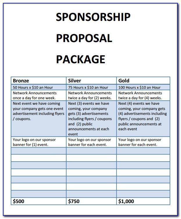 Cycling Team Sponsorship Proposal Template