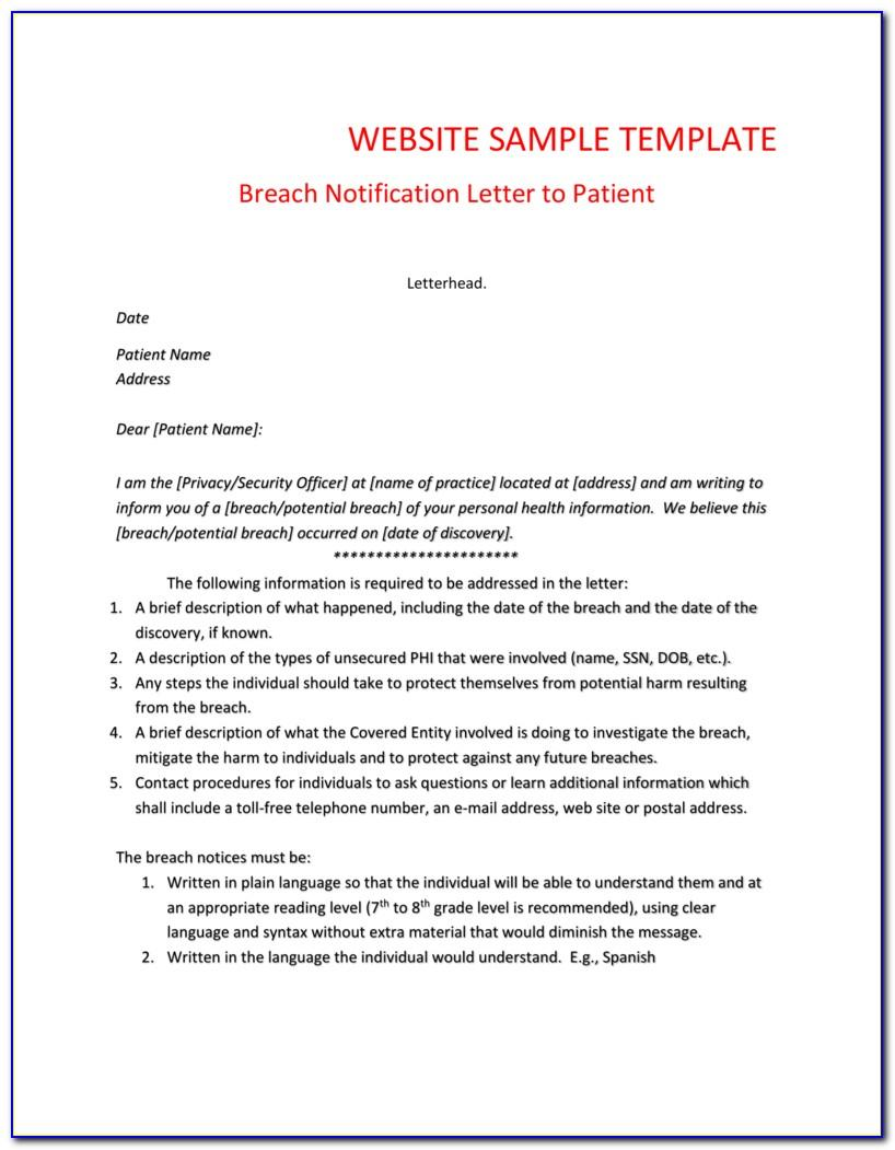 Data Breach Incident Report Template