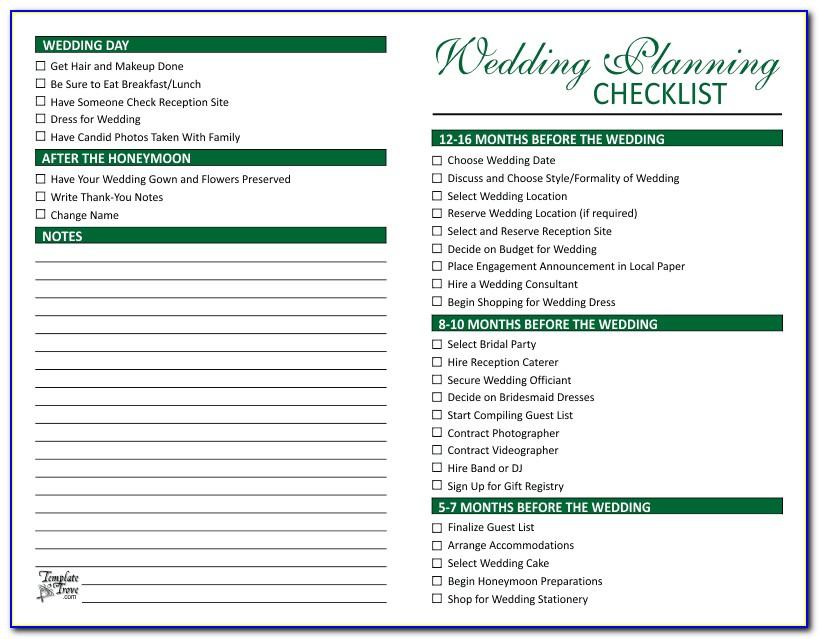 Day Of Wedding Coordinator Checklist Template