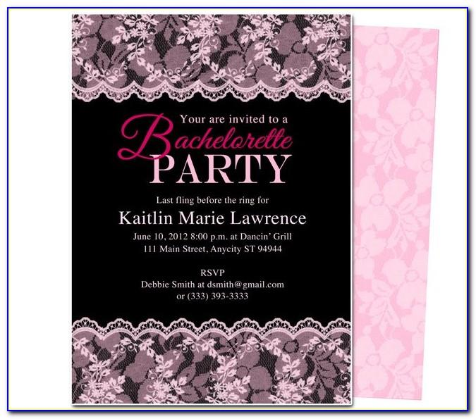 Diy Bachelorette Party Invitation Templates