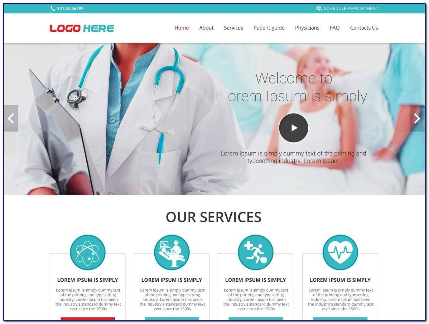 Doctor Website Template Free Download