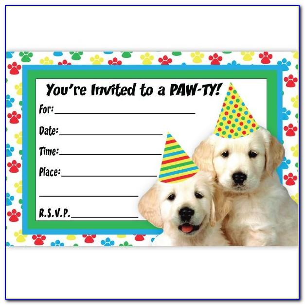 Dog Birthday Party Invitations Templates Free