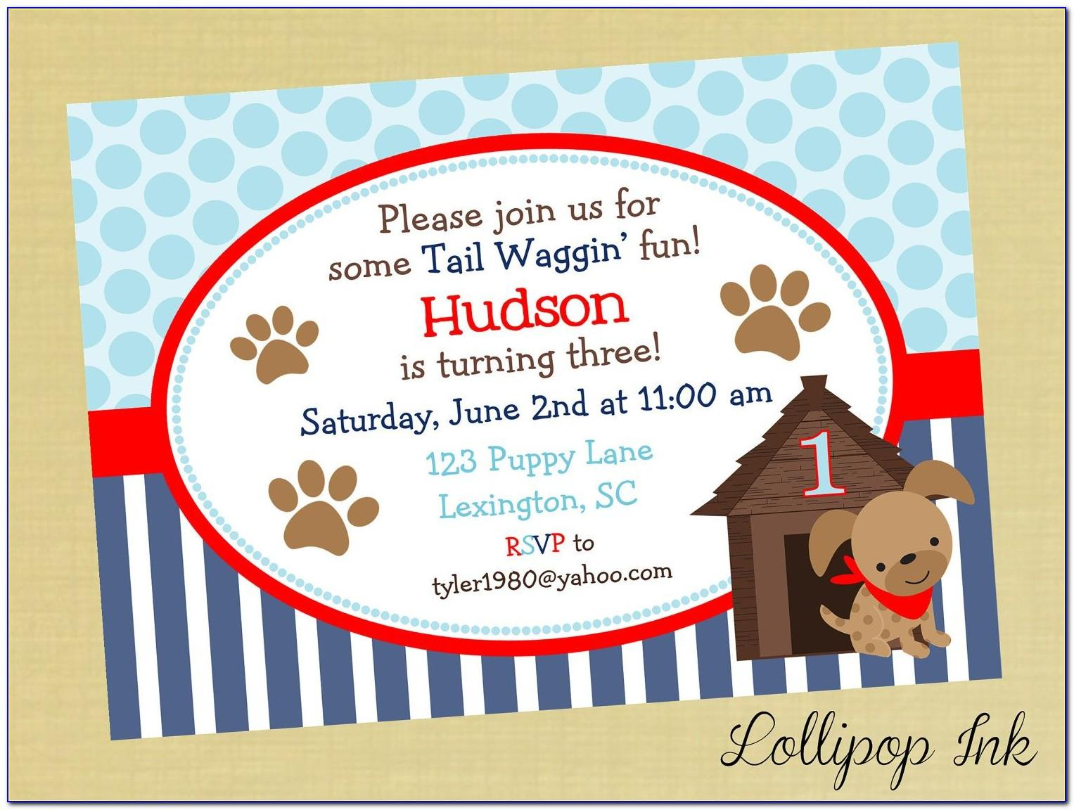 Dog Graduation Party Invitation Template