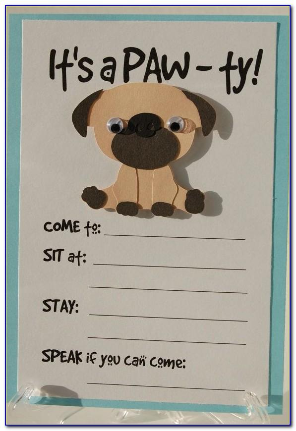 Dog Party Invitations Template Free