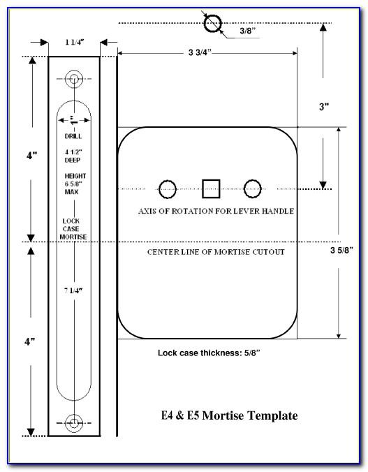 Door Mortise Template