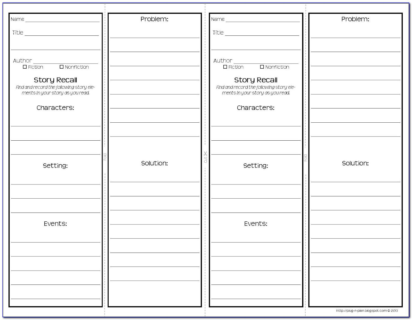 Double Sided Bookmark Template Word