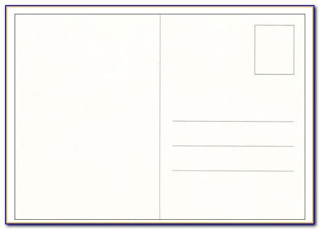 Double Sided Postcard Template Photoshop