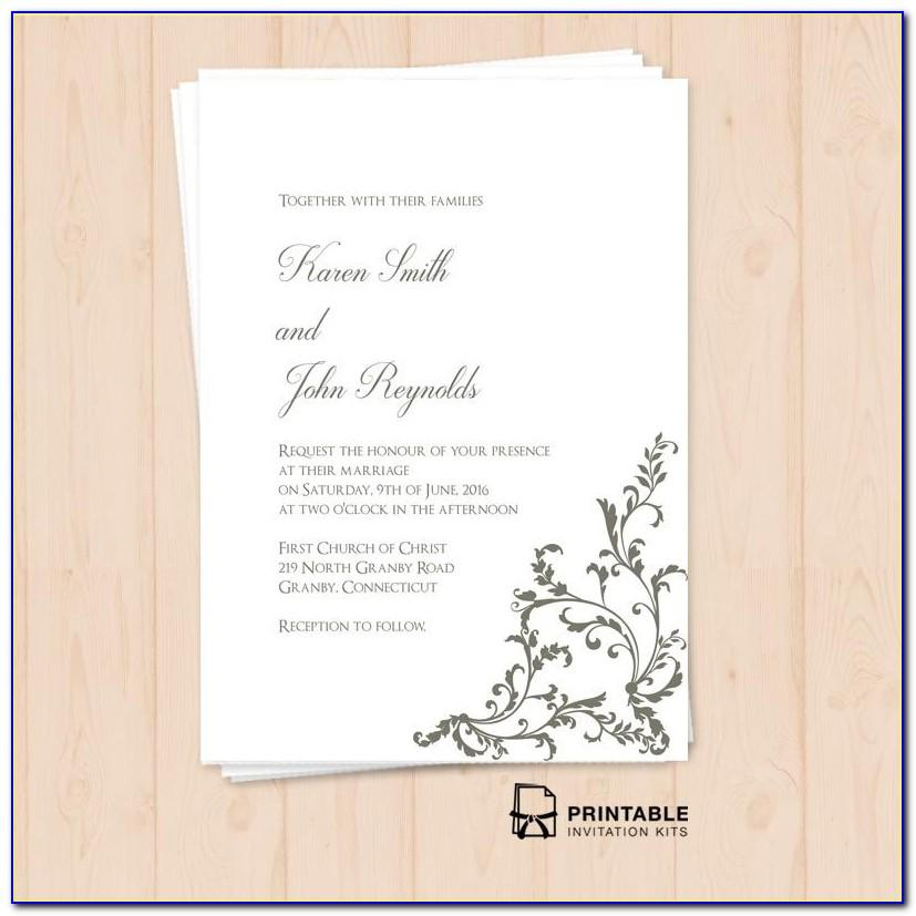 Download Pdf Wedding Invitation Templates