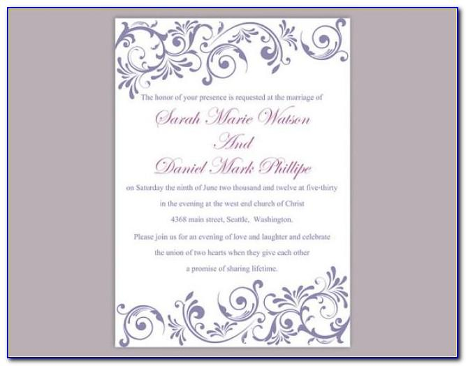 Downloadable Wedding Invitation Templates For Word
