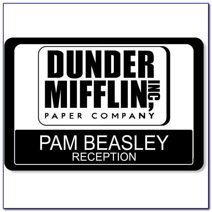 Dunder Mifflin Name Badge Template