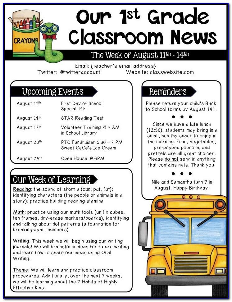 Early Years Newsletter Templates