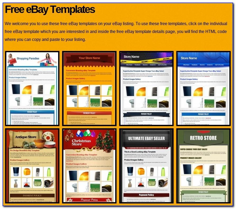 Ebay Auction Templates Free
