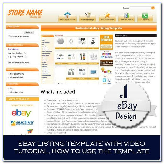 Ebay Listings Template