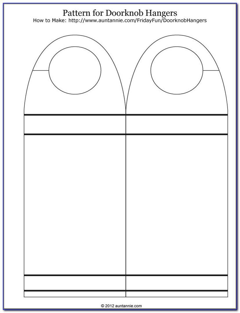 Editable Door Hanger Template Word