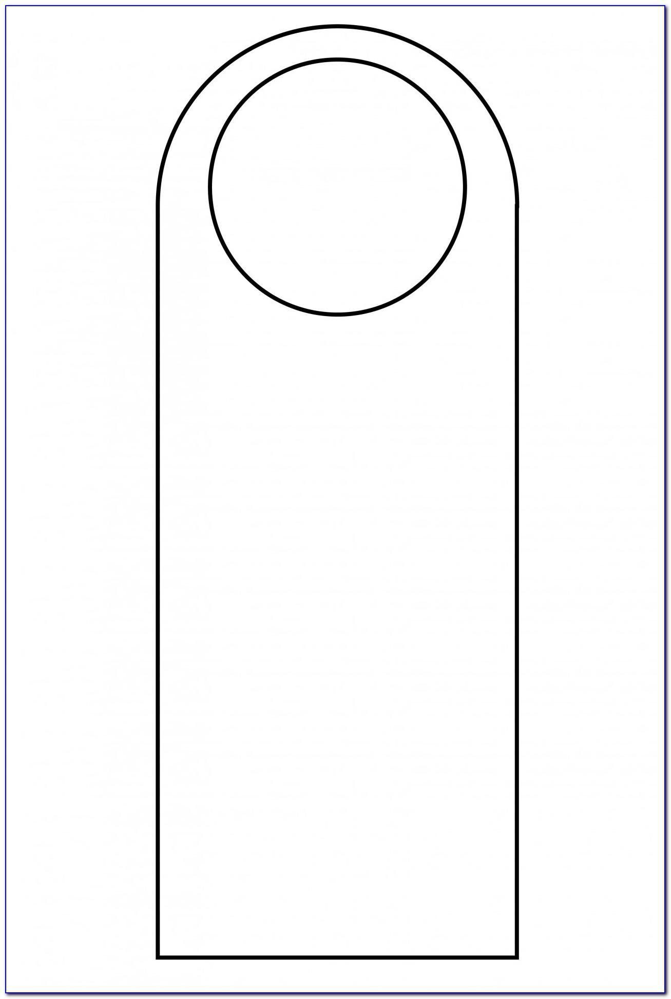 Editable Door Hanger Template