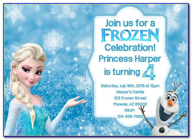 Editable Frozen Birthday Invitations Templates Free