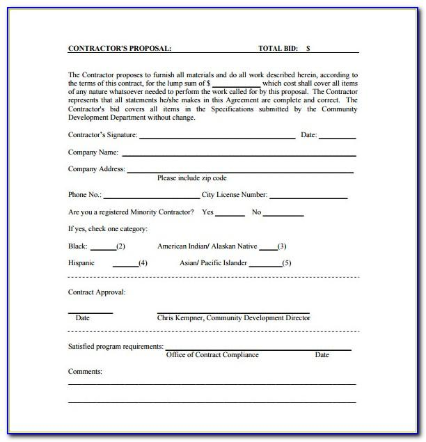 Electrical Contractor Proposal Template