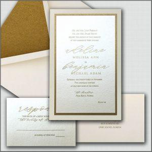 Elegant Wedding Invitations Gold
