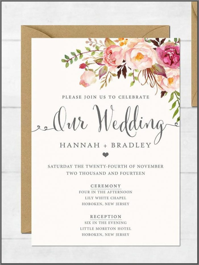 Elegant Wedding Invitations Templates