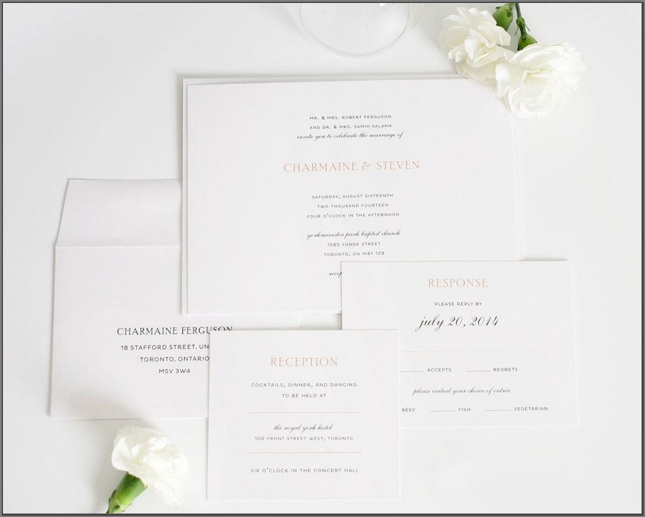 Elegant Wedding Invitations With Photo