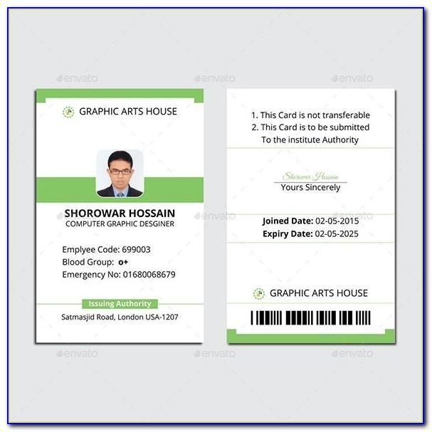 Employee Identification Card Template Free Download