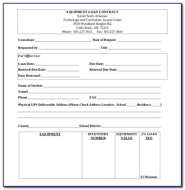 Equipment Loaner Agreement Form