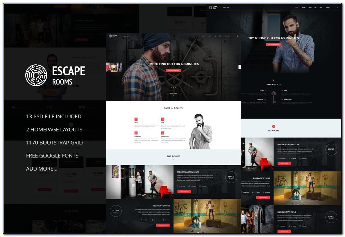 Escape Room Website Template