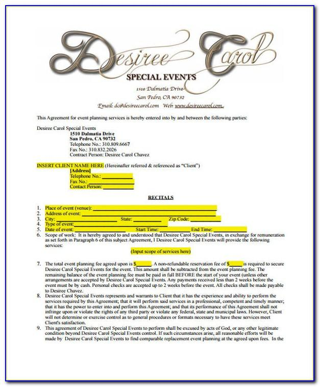 Event Planner Contract Templates