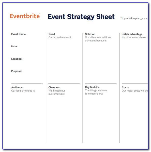 Event Strategic Plan Example