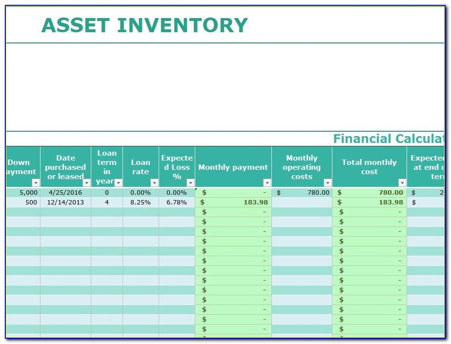 Excel Asset Inventory Template