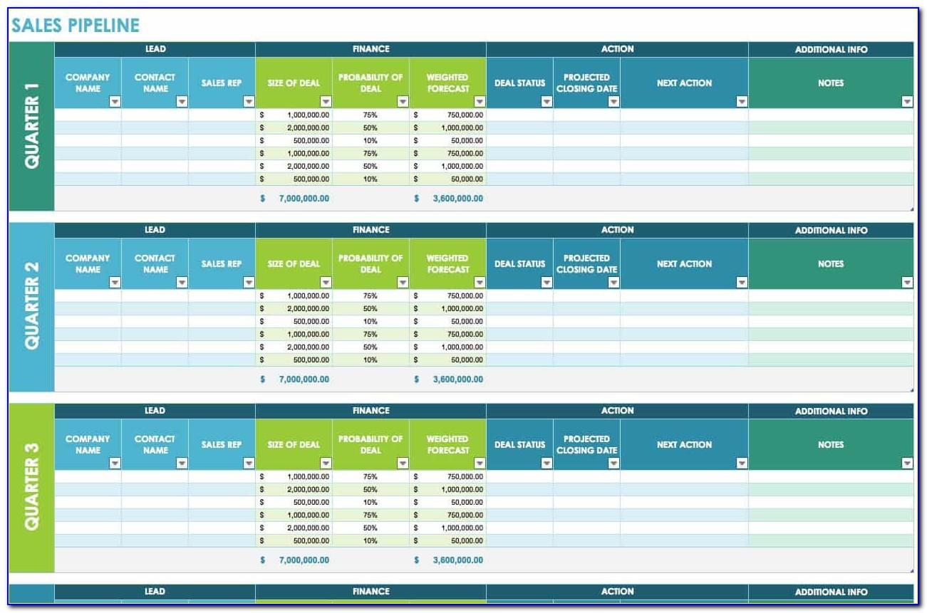Excel Templates For Sales And Marketing