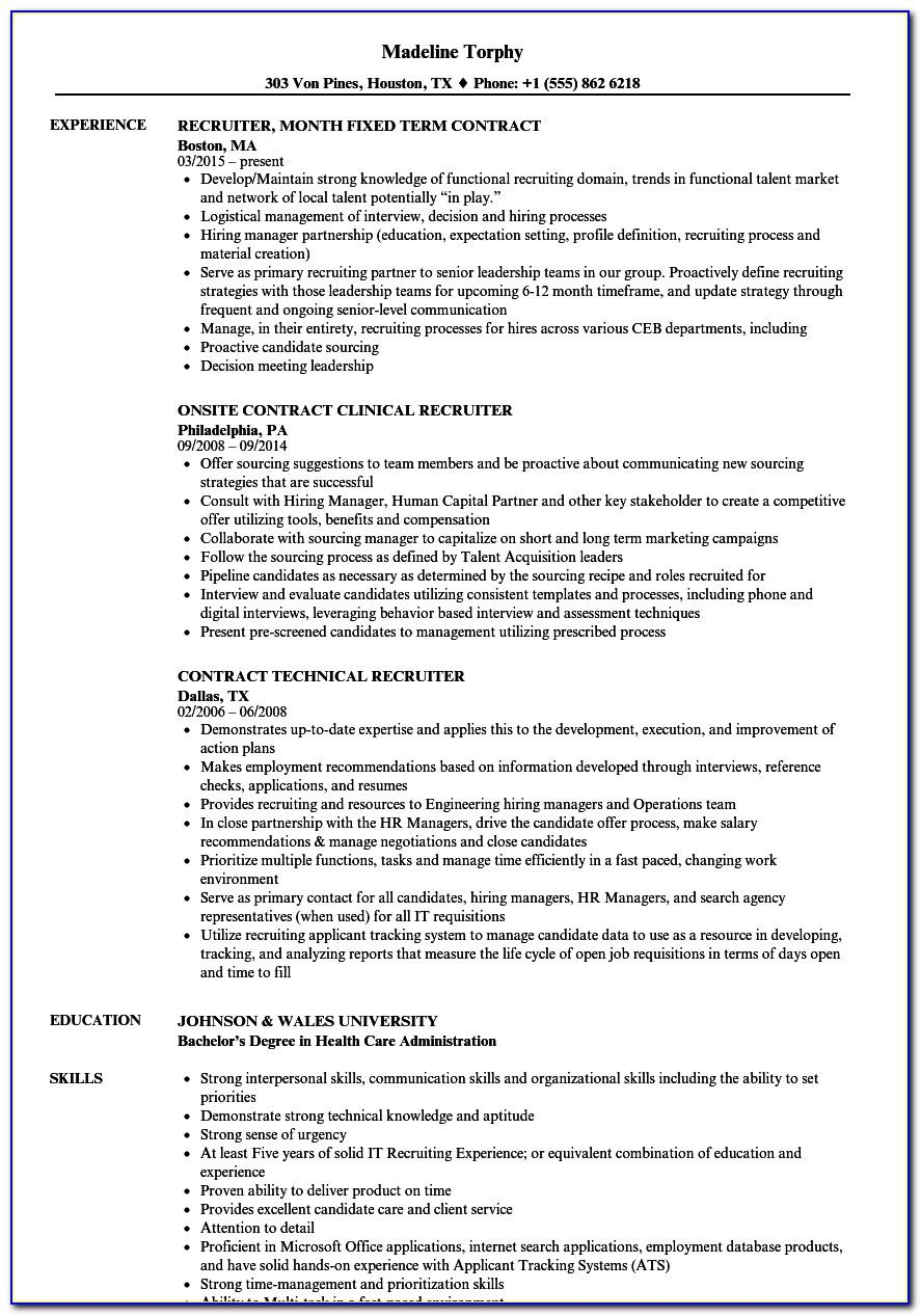 Executive Recruiter Contract Template