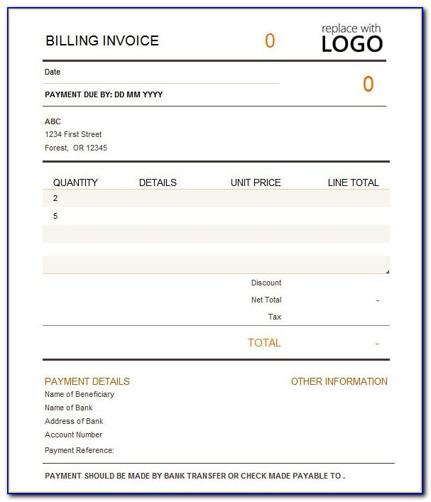 Expense Reimbursement Invoice Template