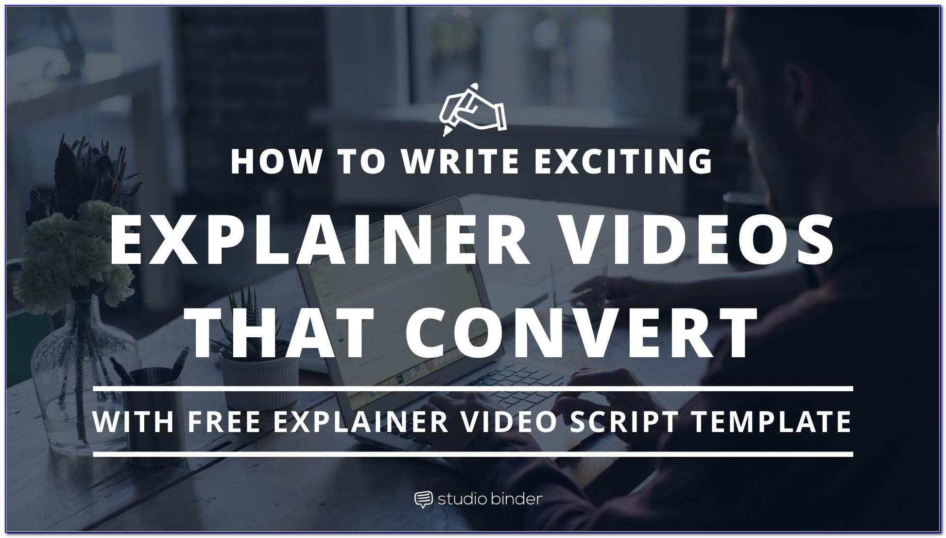 Explainer Video Template Powerpoint