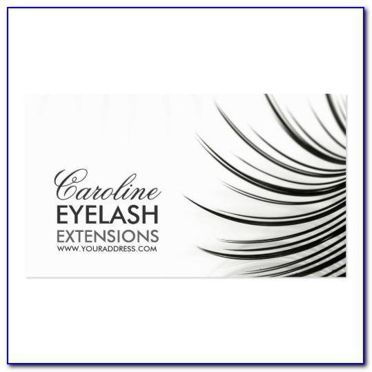 Eyelash Business Cards Templates