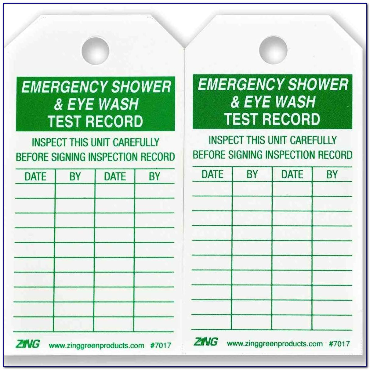 Eyewash Station Checklist Forms
