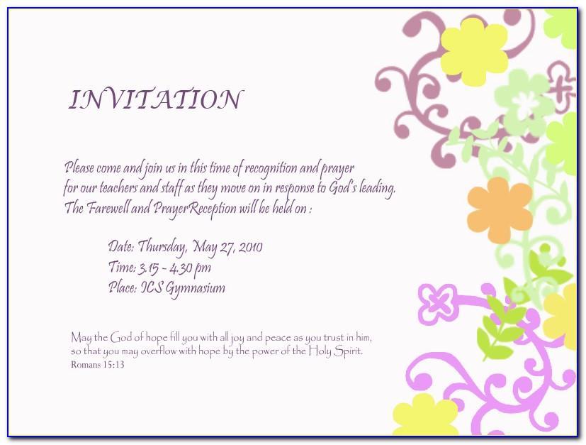 Farewell Invitation Templates Free