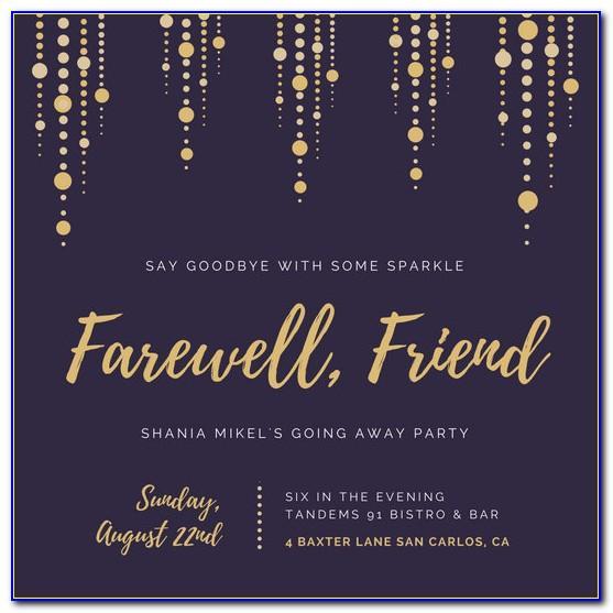 Farewell Invitation Templates Word