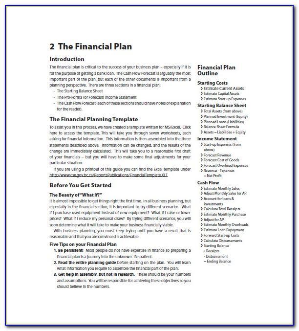 Financial Advisor Business Plan Template Free