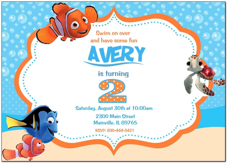 Finding Nemo Birthday Invitation Template