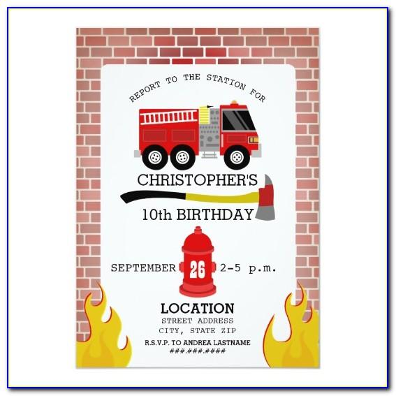 Firefighter Invitation Templates