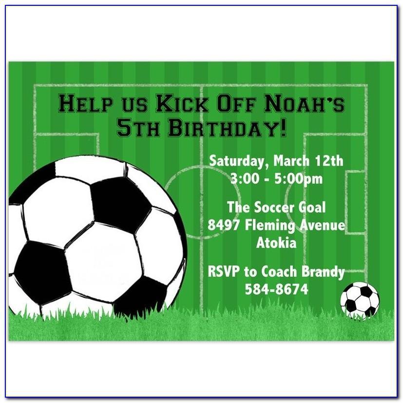Football Birthday Invitation Template Free
