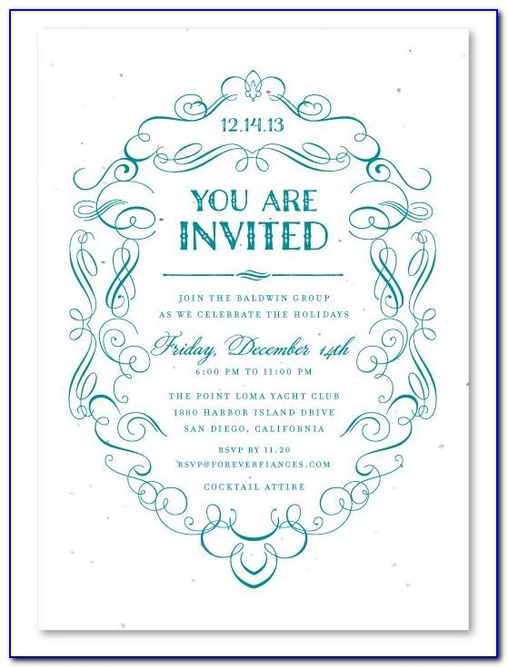 Formal Lunch Invitation Sample