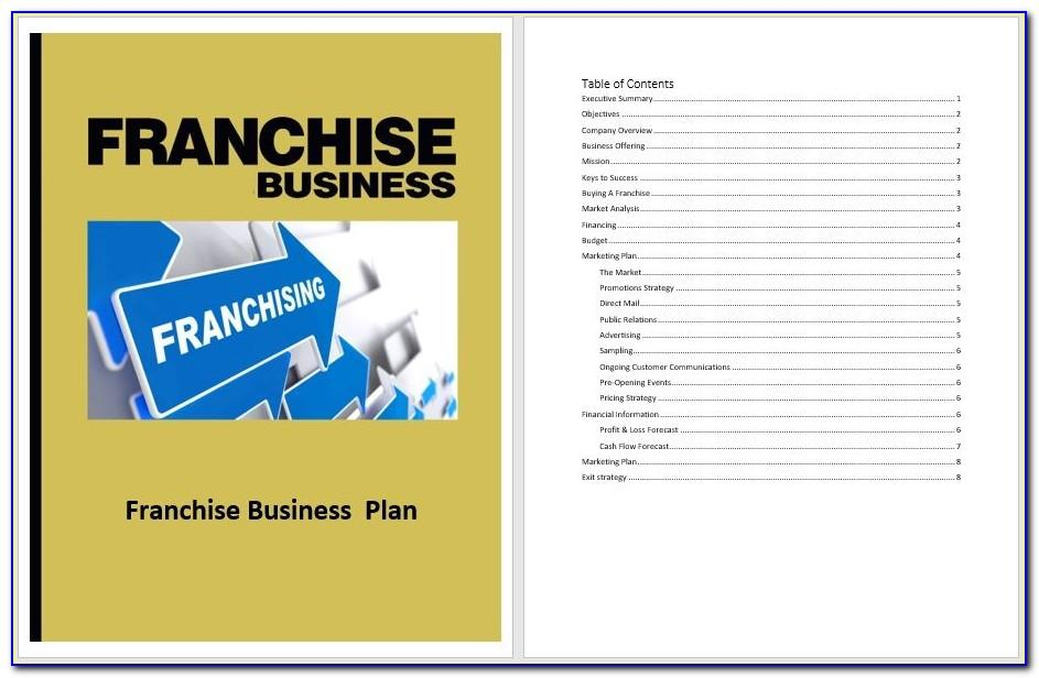 Franchise Business Plan Template Doc